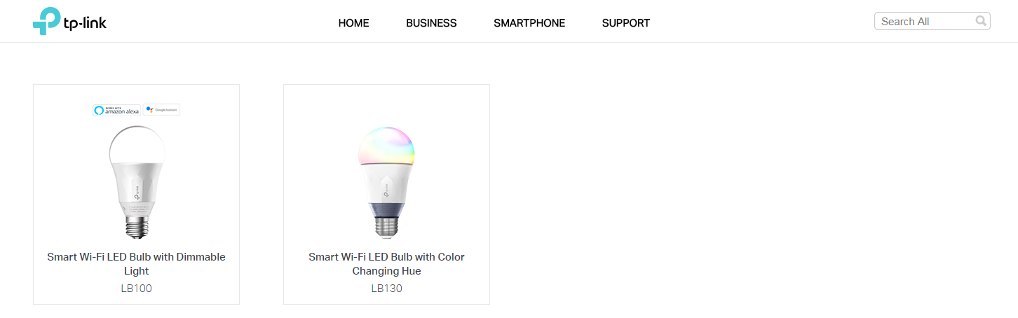 TP-Link Smart Bulbs LB110 and LB120 no longer listed on the